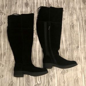 Black Over Knee High Boots size 7.5W